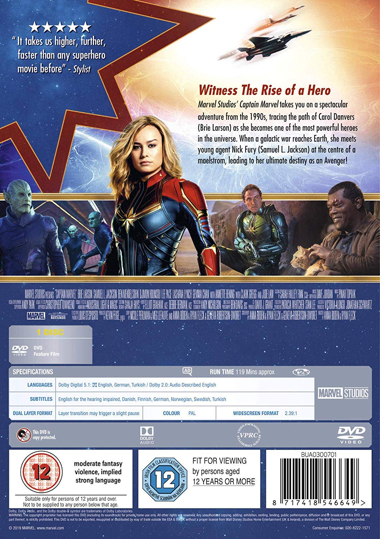 movie 2019 on dvd Captain Marvel DVD 2019